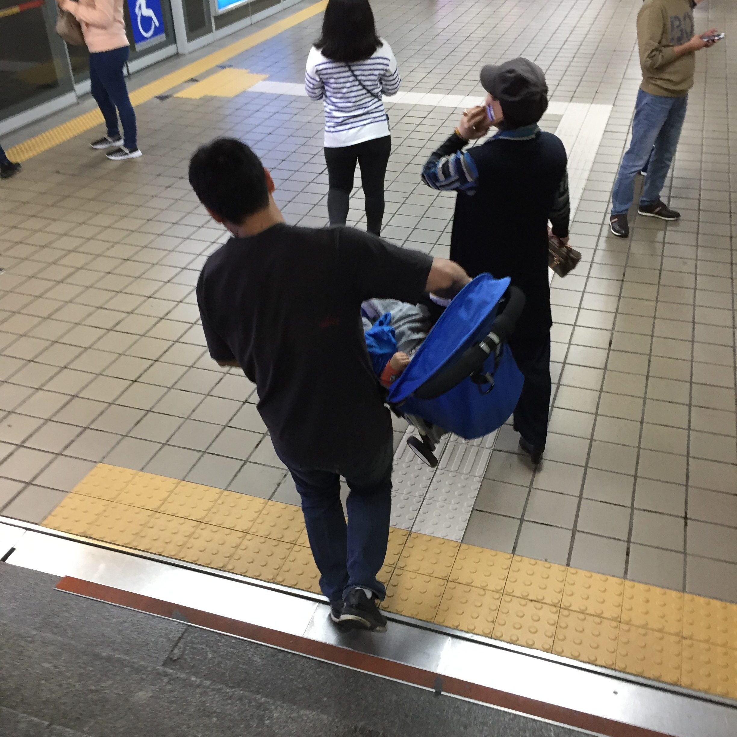 Stroller and prams in Seoul's subways